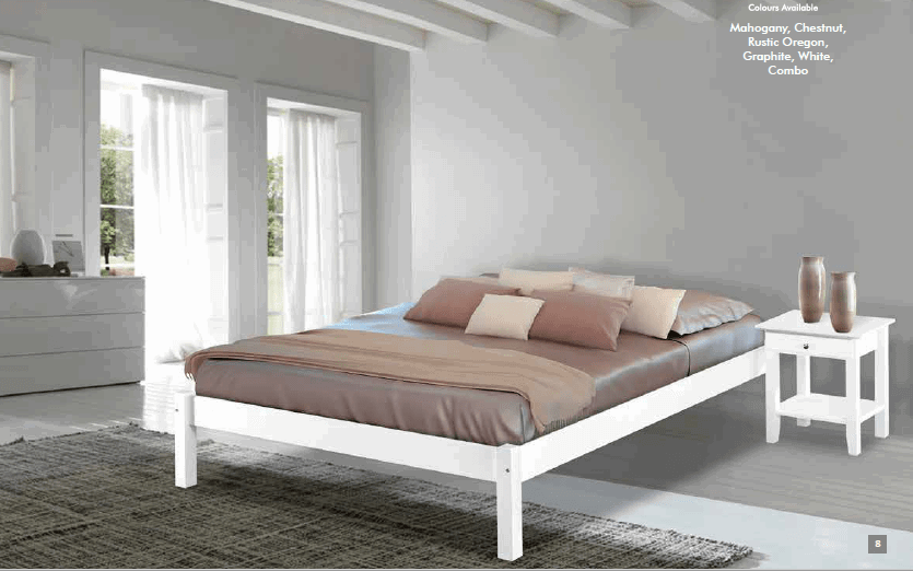 wooden bed frame double